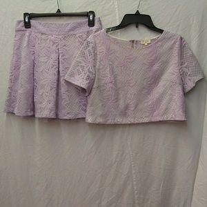 Tea & Cup lavender skirt & top set